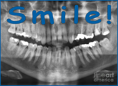 Panoramic Dental X-ray With A Smile  Poster by Ilan Rosen