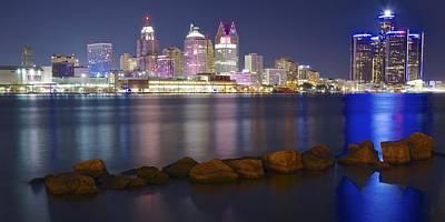 Panoramic Detroit Poster