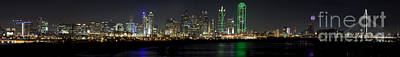 Panoramic Downtown Dallas, Texas Poster by Anthony Totah