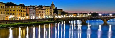 Panoramic Florence Italy Poster by Frozen in Time Fine Art Photography