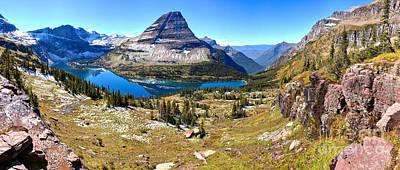 Panoramic Hidden Lake Landscape Poster