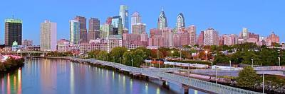 Panoramic Philly Skyline Poster by Frozen in Time Fine Art Photography