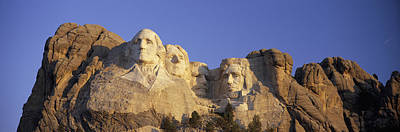 Panoramic Sunrise View On Presidents Poster by Panoramic Images
