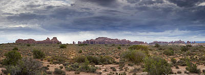 Panoramic View At Arches National Park Poster