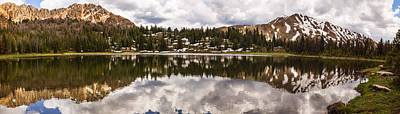 Panoramic View Of Fourth Of July Lake In Stanley Idaho Poster