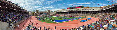 Panoramic View Of Franklin Field Poster by Justin Harris