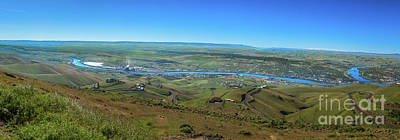 Panoramic View Of Lewiston Poster by Robert Bales