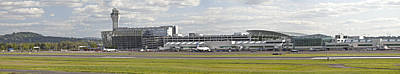 Panoramic View Of Portland Oregon Airport. Poster by Gino Rigucci