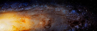 Panoramic View Of The Andromeda Galaxy Poster by Jennifer Rondinelli Reilly - Fine Art Photography