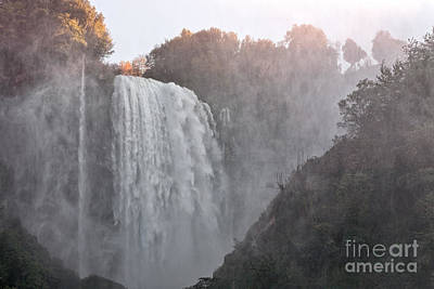 Panoramic View Of The Marmore Waterfalls Poster