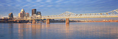 Panoramic View Of The Ohio River Poster by Panoramic Images