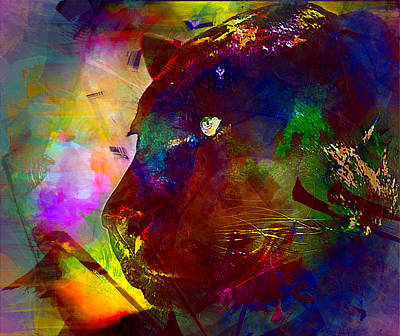 Panther Poster by Elena Kosvincheva