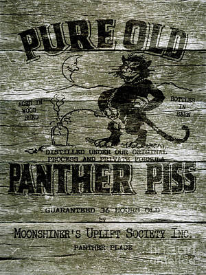 Panther Piss Wooden Sign Poster by Jon Neidert