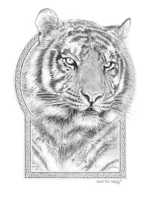 Panthera Tigris - Tiger The Circle Of Life Poster by Steven Paul Carlson