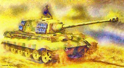 Panzer Tiger 2 - Da Poster by Leonardo Digenio