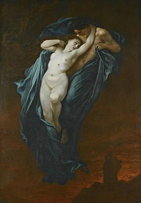 Paolo And Francesca Da Rimini Poster by Gustave Dore