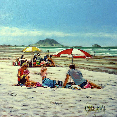 Papamoa Beach 150309 Poster by Sylvia Kula