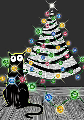 Paper Christmas Tree Poster by Andrew Hitchen