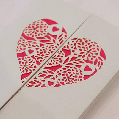 Paper Cut Heart Poster