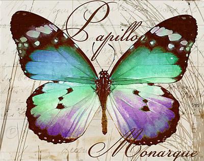 Papillon Blue Poster