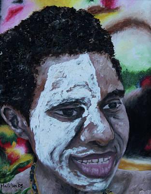 Papua New Guinea Meri Poster by Carol Tsiatsios