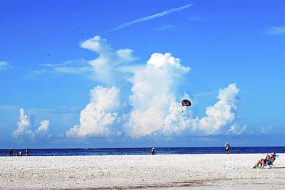 Poster featuring the photograph Para Sailing On Siesta Key by Gary Wonning