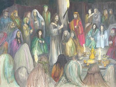 Poster featuring the drawing Parables by Rick Ahlvers