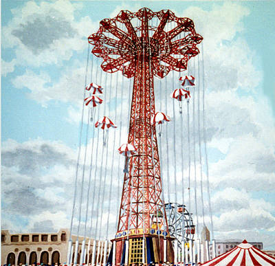 Parachute Jump In Coney Island New York Poster by Bonnie Siracusa