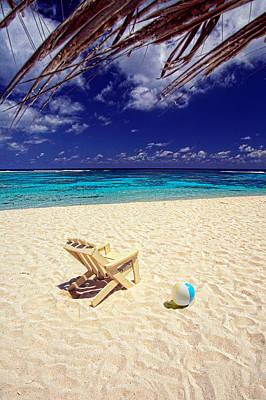 Paradise Beach Ball Poster