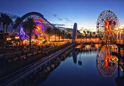 Paradise Pier Sunset Poster