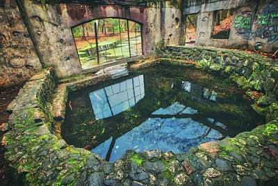 Poster featuring the photograph Paradise Springs- Spring House - Kettle Moraine State Forest by Jennifer Rondinelli Reilly - Fine Art Photography