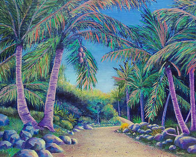Poster featuring the painting Paradise by Susan DeLain