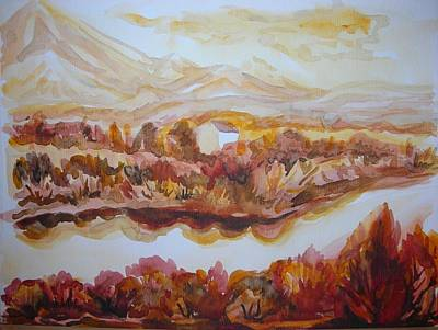 Poster featuring the painting Paradise Valley by Anna  Duyunova
