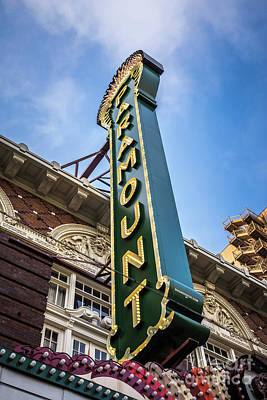 Paramount Theatre Sign Austin Texas Poster by Paul Velgos