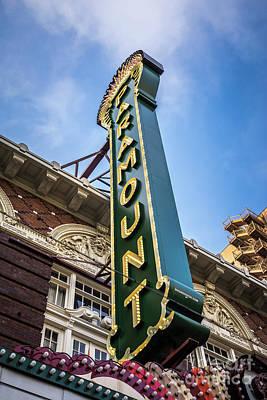 Paramount Theatre Sign Austin Texas Poster