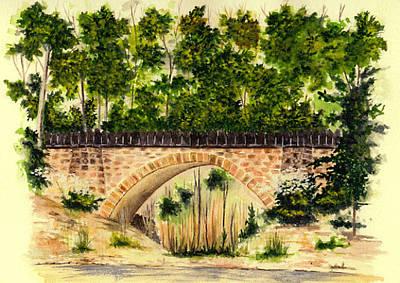 Parapet Bridge - Mill Creek Park Poster by Michael Vigliotti