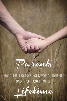 Parents For A Lifetime Poster by Joana Kruse