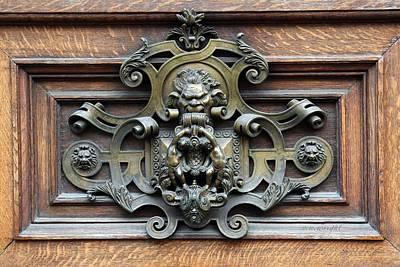 Paris - 19th Century Brass Door Knocker Poster by Yvonne Wright
