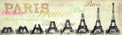 Paris And The Eiffel Tower Poster by Jon Neidert