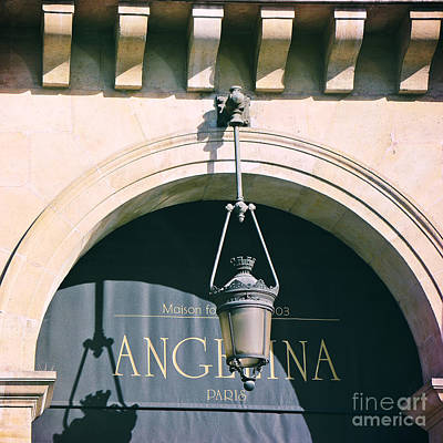 Paris Angelina Cafe Coffee Bistro House - Famous Paris Cafes Dessert Bistro  Poster