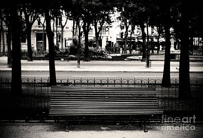 Paris Bench Poster