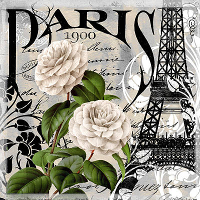 Paris Blanc II Poster by Mindy Sommers