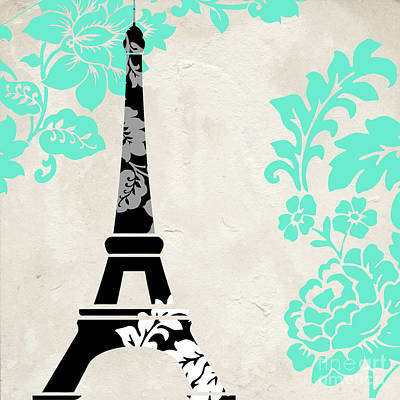 Paris Blues Poster by Mindy Sommers