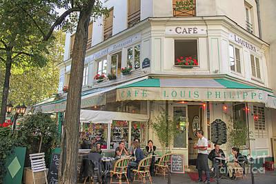 Paris Cafe Poster by Patricia Hofmeester