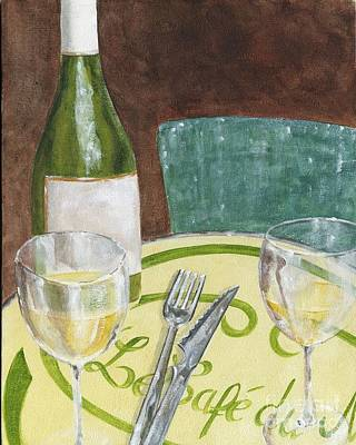 Paris Cafe Poster by Sheryl Heatherly Hawkins
