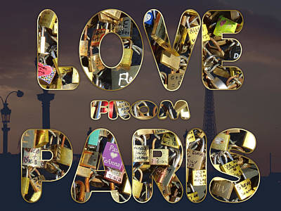 Poster featuring the painting Paris City Of Love And Lovelocks by Georgeta Blanaru