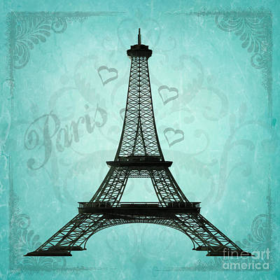 Paris Collage Poster by Jim and Emily Bush