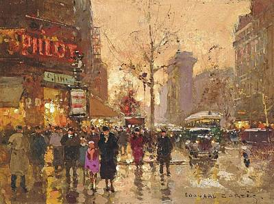 Paris Poster by Edouard Cortes