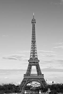 Paris Eiffel Tower Monochrome Poster by Melanie Viola