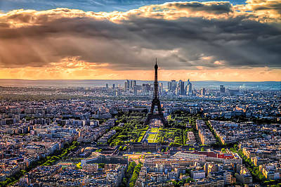 Poster featuring the photograph Paris From Above by Tim Stanley